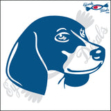 "BEAGLE DOG HEAD  5"" DECAL"