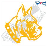 "BOXER DOG HEAD  5"" DECAL"
