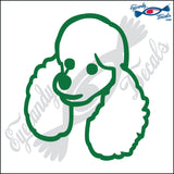 "POODLE DOG HEAD  5"" DECAL"