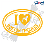 "I LOVE BOSTON TERRIER  5"" DECAL"