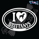 "I LOVE BRITTANYS  5"" DECAL"