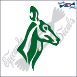 "DEER TRIBAL DOE  5""  DECAL"