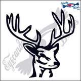 "DEER HEAD 2  6""  DECAL"