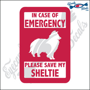 "PLEASE SAVE MY SHELTIE  5"" DECAL"