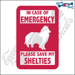 "PLEASE SAVE MY SHELTIES  5"" DECAL"
