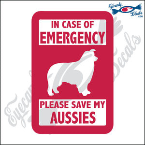 "PLEASE SAVE MY AUSSIES  5"" DECAL"