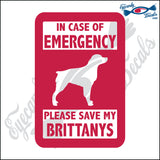 "PLEASE SAVE MY BRITTANYS  5"" DECAL"