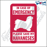 "PLEASE SAVE MY HAVANESES  5"" DECAL"