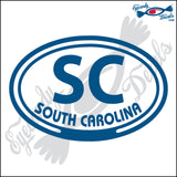 SC with SOUTH CAROLINA in OVAL   5 INCH  DECAL