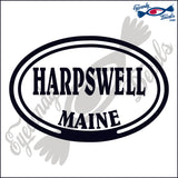 HARPSWELL MAINE in OVAL   5 INCH  DECAL