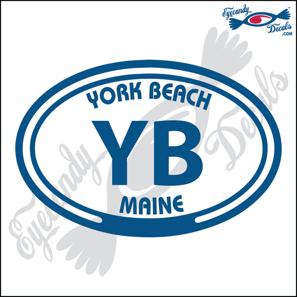 YB with YORK BEACH MAINE in OVAL   5 INCH  DECAL