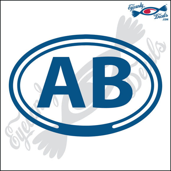 AB in OVAL   5 INCH  DECAL