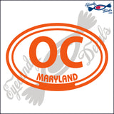OC with MARYLAND in OVAL   5 INCH  DECAL