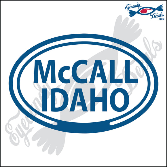 McCALL IDAHO in OVAL   5 INCH  DECAL