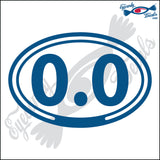 0.0 in OVAL   5 INCH  DECAL