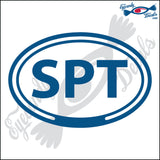 SPT for SOUTHPORT NORTH CAROLOINA in OVAL   5 INCH  DECAL