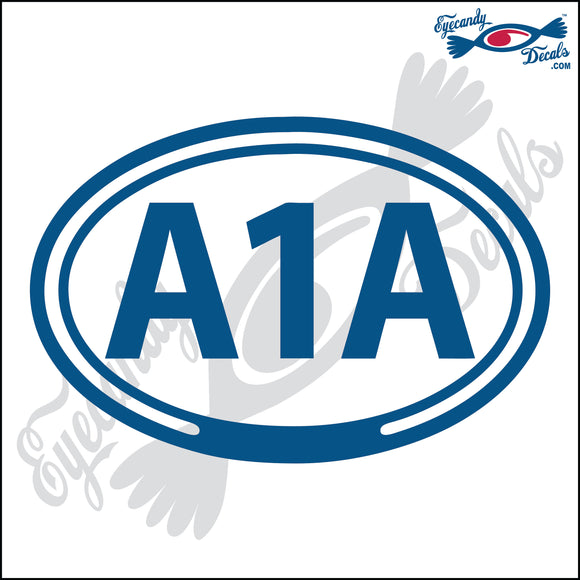 AIA for ATLANTIC BEACH ROAD in OVAL   5 INCH  DECAL