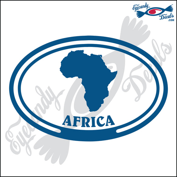 AFRICA with AFRICA in OVAL   5 INCH  DECAL