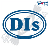 DIs for DAUPHIN ISLAND ALABAMA in OVAL   5 INCH  DECAL
