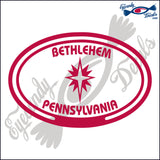 STAR with BETHLEHEM and  PENNSYLVANIA in OVAL   5 INCH  DECAL