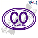 CO with COLUMBIA in OVAL   5 INCH  DECAL