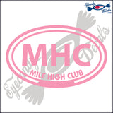 MHC with MILE HIGH CLUB in OVAL   5 INCH  DECAL