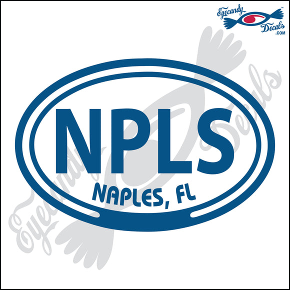 NPLS with NAPLES FLORIDA in OVAL   5 INCH  DECAL