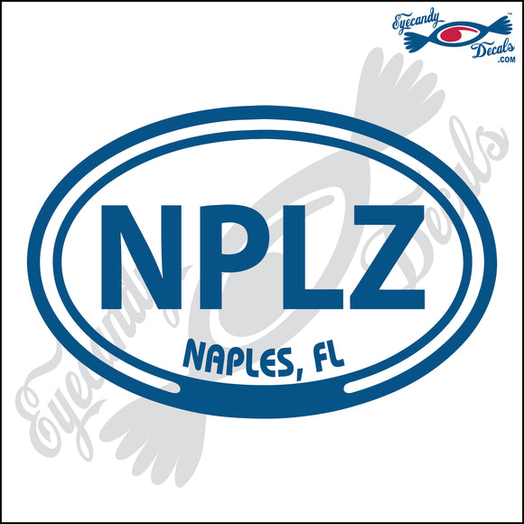 NPLZ with NAPLES FLORIDA in OVAL   5 INCH  DECAL