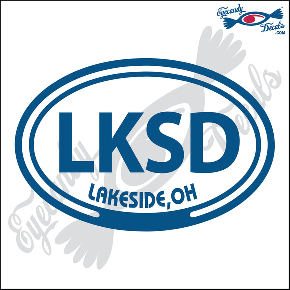 LKSD with LAKESIDE OHIO in OVAL   5 INCH  DECAL
