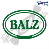 BALZ in OVAL   5 INCH  DECAL