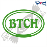 BTCH in OVAL   5 INCH  DECAL