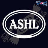 ASHL in OVAL   5 INCH  DECAL