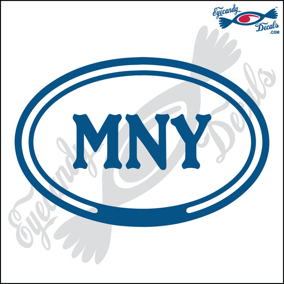 MNY in OVAL   5 INCH  DECAL