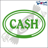 CASH in OVAL   5 INCH  DECAL