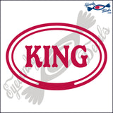 KING in OVAL   5 INCH  DECAL