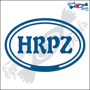 HRPZ in OVAL   5 INCH  DECAL