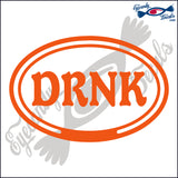 DRNK in OVAL   5 INCH  DECAL