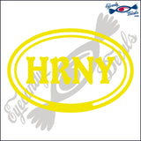 HRNY in OVAL   5 INCH  DECAL