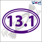 13.1 in OVAL   5 INCH  DECAL