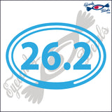 26.2 in OVAL   5 INCH  DECAL