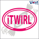 iTWIRL in OVAL   5 INCH  DECAL