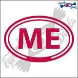 ME for MAINE in OVAL   5 INCH  DECAL
