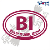 BI with BAILEY ISLAND MAINE in OVAL   5 INCH  DECAL