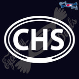 CHS for CHARLESTON SOUTH CAROLINA in OVAL   5 INCH  DECAL