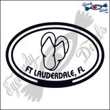 SANDALS with FT LAUDERDALE FLORIDA in OVAL   5 INCH  DECAL