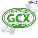 GCX with SOUTH CAROLINA GAMECOCKS in OVAL   5 INCH  DECAL