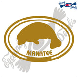 MANATEE with MANATEE in OVAL   5 INCH  DECAL