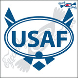 USAF with LOGO for AIRFORCE  in OVAL   5 INCH  DECAL