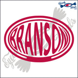 BRANSON for MISSOURI BALLOONED in OVAL   5 INCH  DECAL