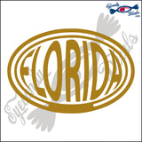 FLORIDA BALLOONED in OVAL   5 INCH  DECAL
